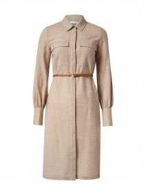 Mullen Beige Wool Shirt Dress