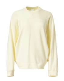 Frine Yellow Plush Cotton Sweatshirt