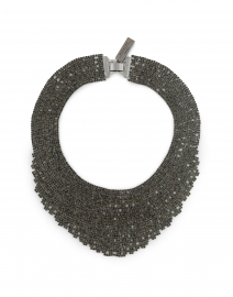 Etuania Gunmetal Crystal Necklace