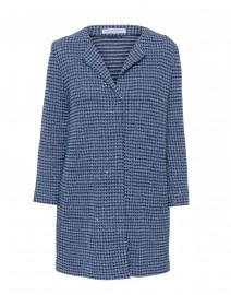 Arrow Blue Sequin Cotton Linen Jacket