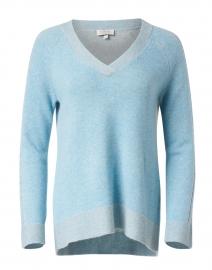 Waterfall Blue Cashmere Sweater