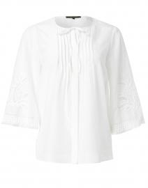 Addie White Embroidered Cotton Silk Blouse