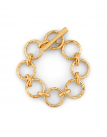 Gold and Moonstone Bamboo Link Bracelet