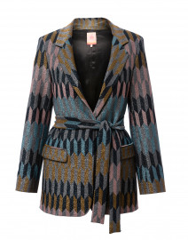 Clara Multicolored Geo Lurex Blazer