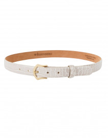 Embossed Crocodile Bone Leather Belt