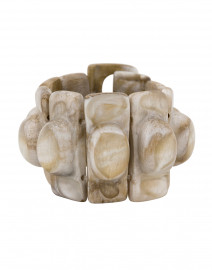 Florence Sable Ivory Resin Bracelet