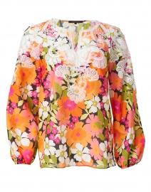 Charlotte Garden Print Cotton Silk Blouse