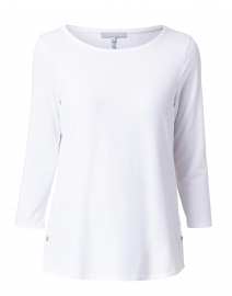 Paloma White Tailored Knit Shirt