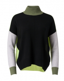 High Ambition Onyx Colorblock Cashmere Sweater