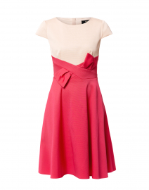 Blush and Pink Bow Ottoman Stretch Dress