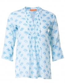 Blue Capella Print Cotton Voile Top