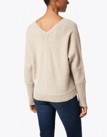 Lisa Todd - The Stitch Beige Ribbed Merino and Cashmere Sweater