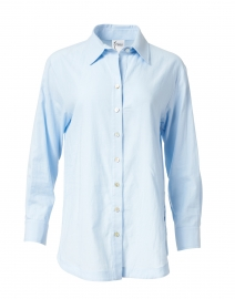 Misty Blue Cotton Shirt