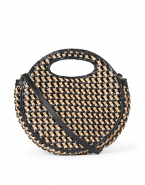 Kora Caramel and Black Woven Leather Crossbody Bag