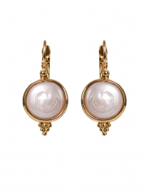 Gold and White Mother of Pearl Drop Earring