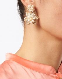 Mignonne Gavigan - Camellia Pearl Drop Post Earrings