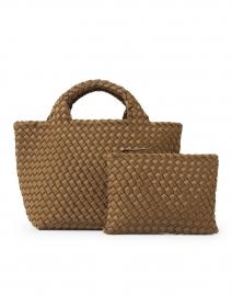 Naghedi - St. Barths Mini Solid Mink Brown Woven Handbag