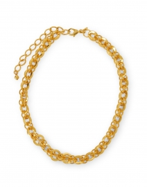 Gold Circular Rounded Chain Link Necklace