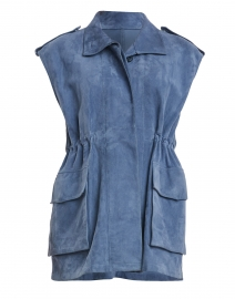 Margot French Blue Suede Vest