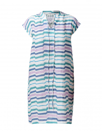 Watercolor Blue Stripe Linen Dress
