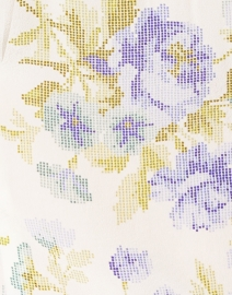 D'Ascoli - Lujza Periwinkle Blue Floral Silk Crepe Shirt