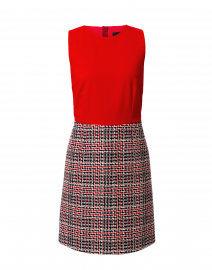 Red Tweed Bottom Dress