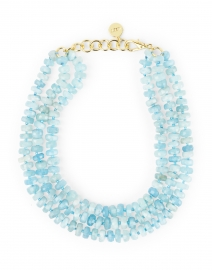 Aquamarine Bead Multi Strand Necklace