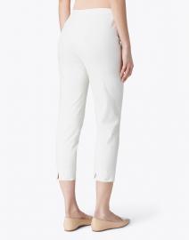 Piazza Sempione - Audrey Ivory Stretch Cotton Capri Pant