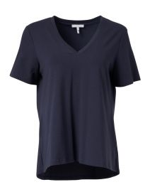 Christy Navy Cotton Modal Tee