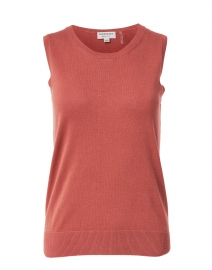 Dusty Red Cotton Viscose Tank