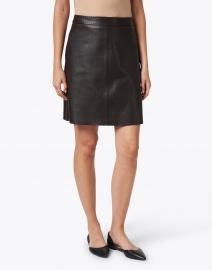 Weekend Max Mara - Tiro Brown Leather Skirt