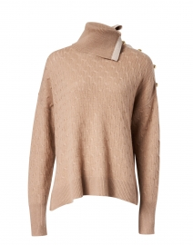 Birch Camel and Beige Cashmere Cable Sweater