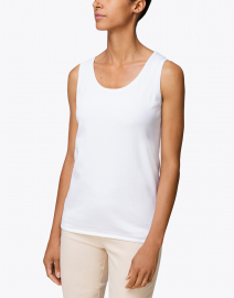 Belford - Optic White Pima Cotton Tank