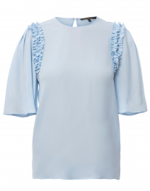 Coleen Pale Blue Silk Blouse