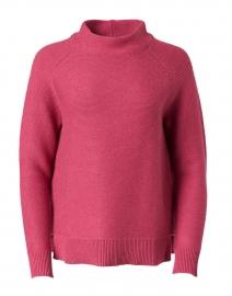 Berry Pink Cotton Garter Stitch Sweater