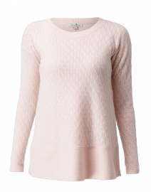 St. Tropez Pale Pink Cable Knit Cashmere Sweater