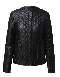 Lazio Black Quilted Leather Jacket