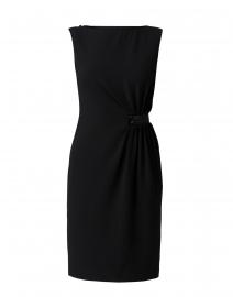 Paule Ka - Black Ruched Crepe Dress