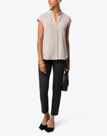 Ecru - Madison Charcoal Stretch Viscose Pant