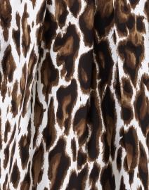 Samantha Sung - Audrey Sepia Animal Printed Stretch Cotton Dress