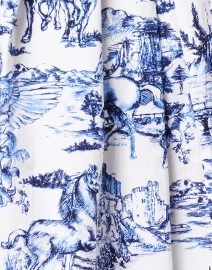 Samantha Sung - Audrey Da Vinci White and Cobalt Blue Stretch Cotton Dress