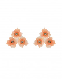 Maddie Blush Peach Flower Cluster Stud Earrings