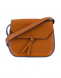 Mini Cognac Leather Saddle Bag