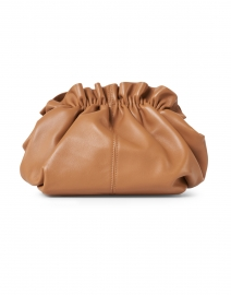Willa Dark Sand Leather Cinched Clutch
