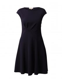 Navy Cap Sleeve Dress