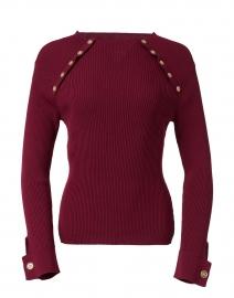 Merlot Slim Knit Top