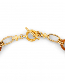 Gas Bijoux - Collier Escale Gold and Brown Resin Link Necklace