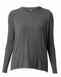 Charcoal Grey Top with Back Pleat
