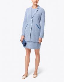 Amina Rubinacci - Centum Blue and White Cotton Jacket