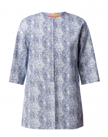 Sarah Blue Python Printed Topper Coat